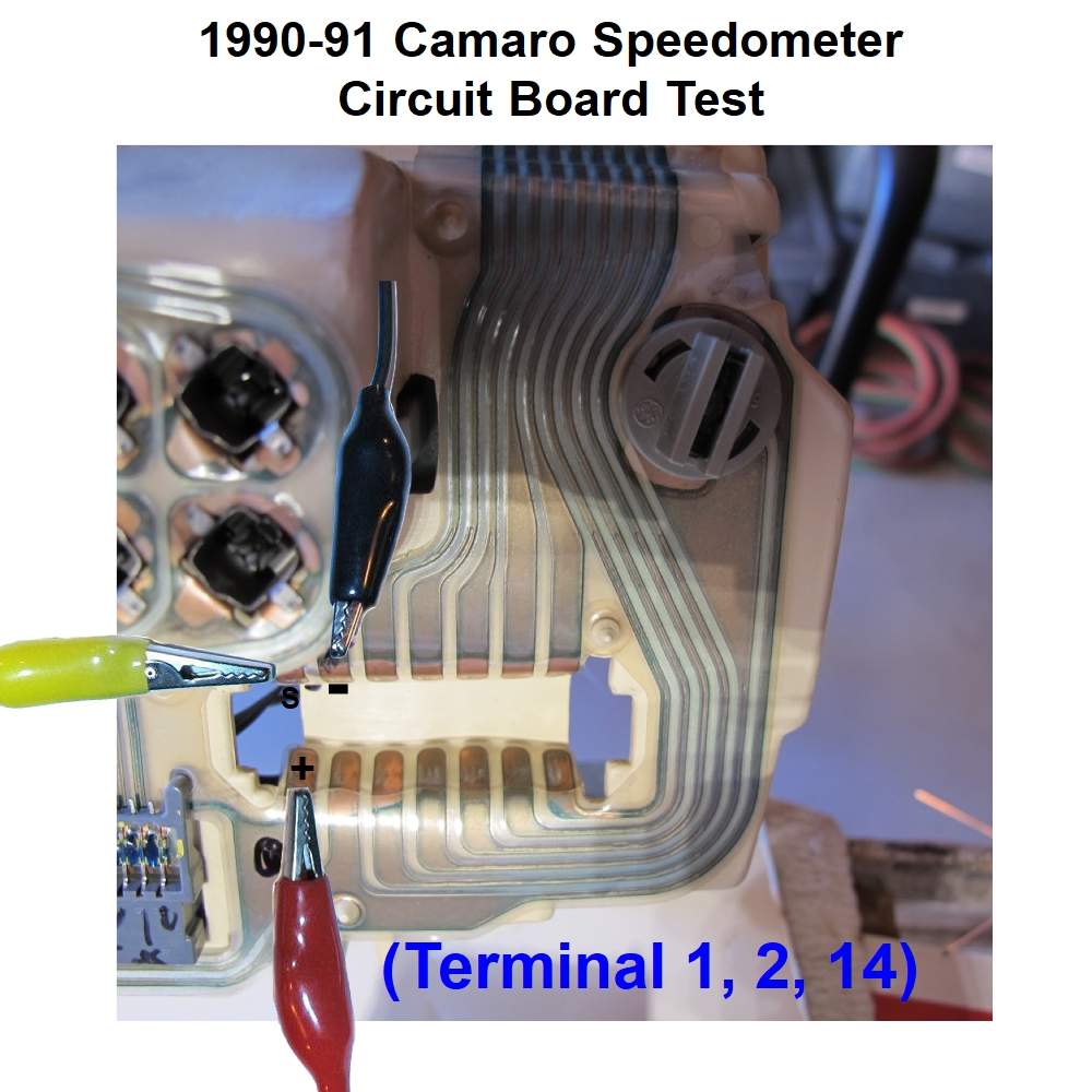 1990 91 92 Camaro Speedometer Problems Testing And Trouble Circuit Board We Used Our Tachometer Tester Available Here To Generate The Signal For Test In Video Below