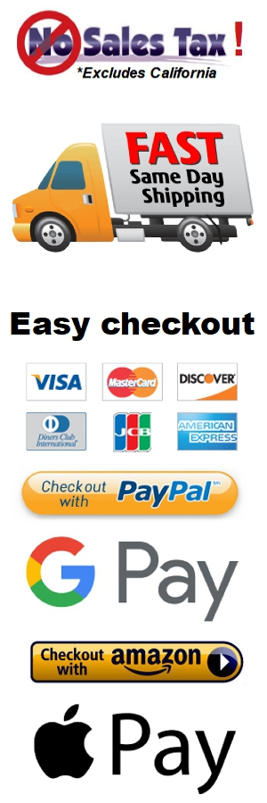 No Sales tax. Fast and Easy checkout!