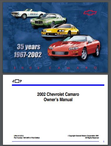 1993 2002 chevy camaro owner s manual free download westcoast rh wc autoparts com 1994 Chevrolet Camaro 1999 Chevrolet Camaro